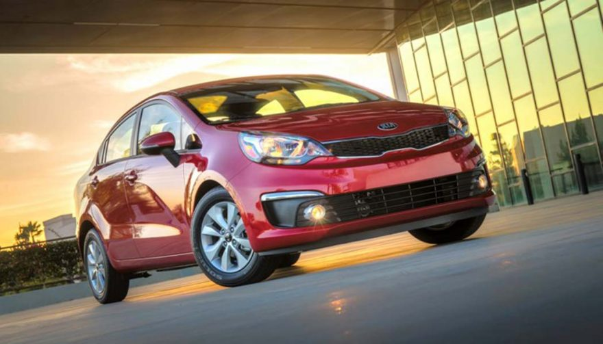The Kia Rio is one of the cheapest cars of 2017