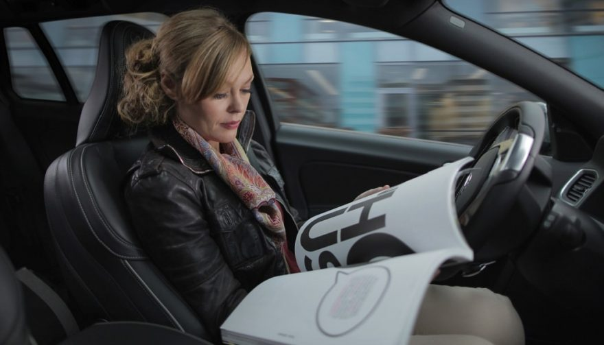 "Autonomous cars like this may allow the ""driver"" to read while in transit"