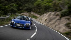 The Audi R8 is available through Audi's car rental services