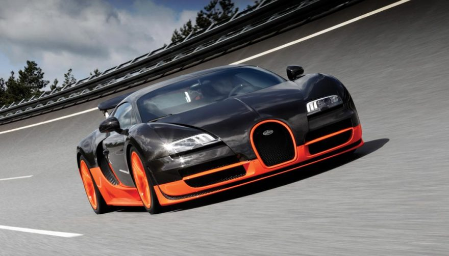 The Bugatti Veyron Super Sport is in the running for the title of fastest car