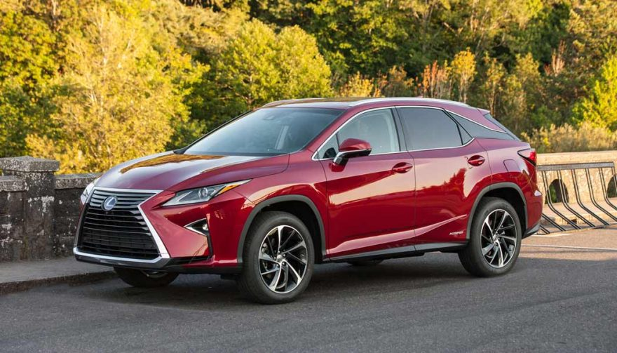 The Lexus RX Hybrid is one of the most fuel efficient SUVs