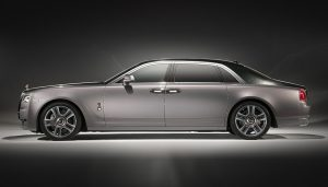 The Rolls-Royce Ghost Elegance glimmers with crushed diamonds in the paint