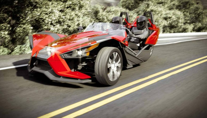 A Polaris Slingshot is a reverse trike vehicle