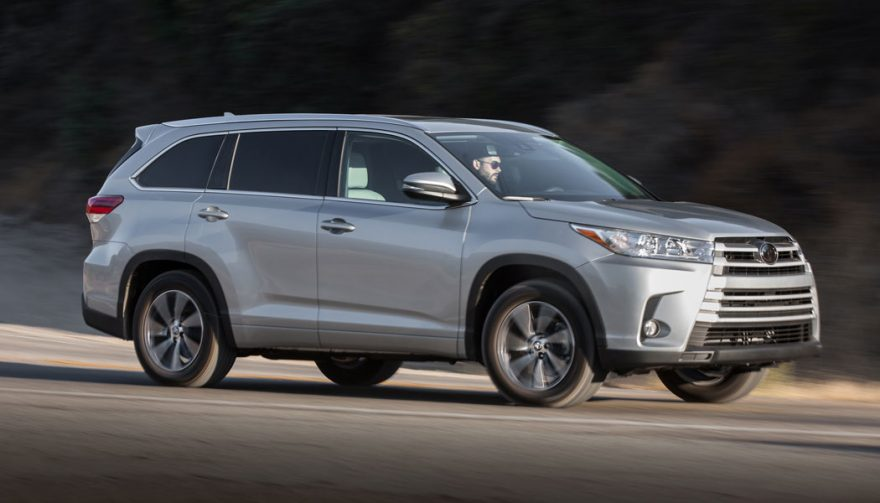The Toyota Highlander is one of the best cars for tall drivers 2017