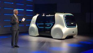 The VW self-driving car Sedric has a very futuristic look