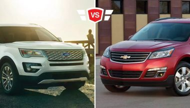 An image shows the Chevrolet Traverse vs Ford Explorer