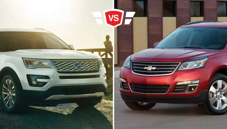 Traverse Vs Explorer >> Chevrolet Traverse Vs Ford Explorer A Detroit Suv Showdown