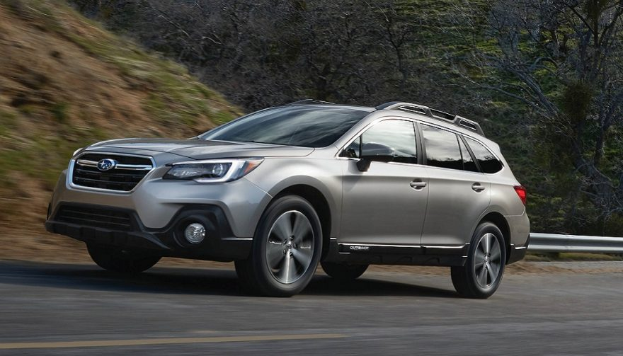 The 2018 Subaru Outback has a restyled front and rear