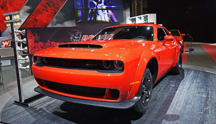 The Dodge Challenger SRT Demon was unveiled at the New York International Auto Show