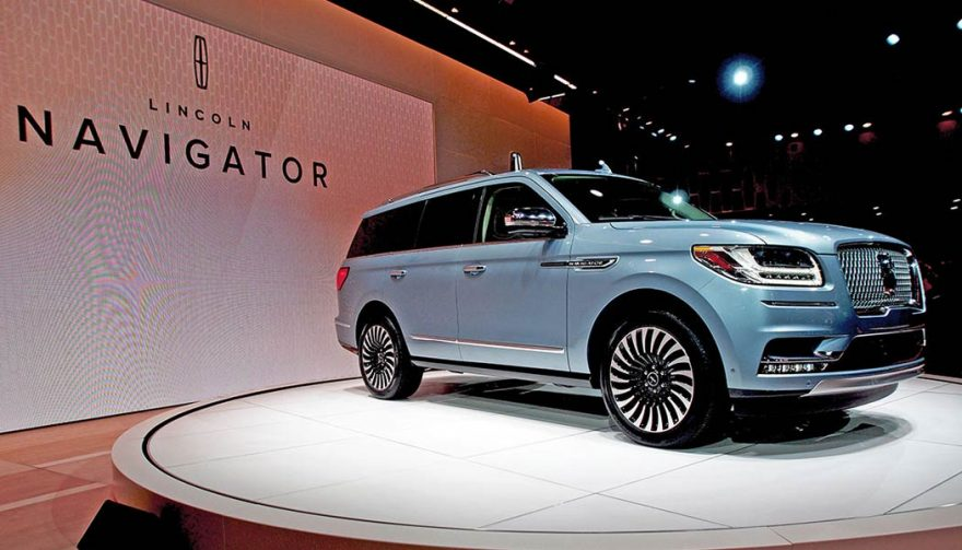 The all-new Lincoln Navigator was unveiled at the New York International Auto Show