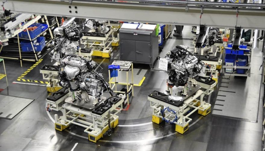 An Engine Sub Assembly At Toyota Motor Manufacturing Kentucky