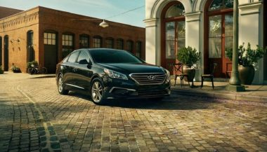The 2017 Hyundai Sonata has a classic sedan look