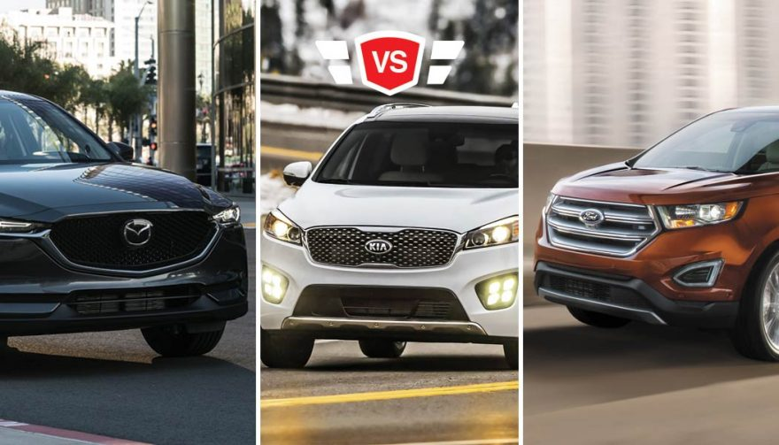 Ford Edge Vs Mazda Cx  Vs Kia Sorento