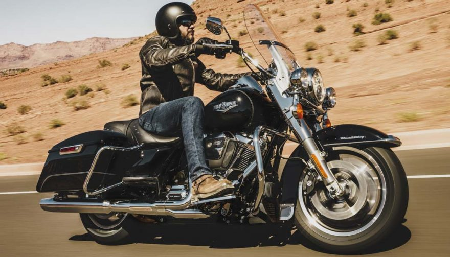 The Harley-Davidson Road King is one of the best motorcycles for tall riders