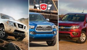 A look at the Nissan Frontier vs Toyota Tacoma vs Chevrolet Colorado