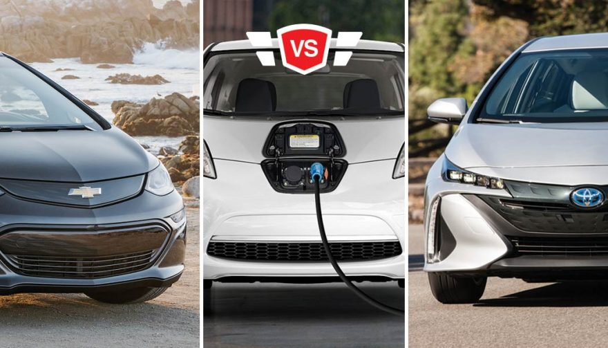 Nissan LEAF vs Toyota Prius Prime vs Chevy Bolt