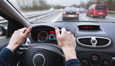 A steering wheel is often where a driver feels the car shakes while driving