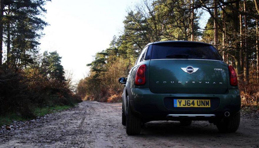 A car on a European road trip