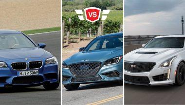 The BMW M5 vs Cadillac CTS-V vs Genesis G80 Sport