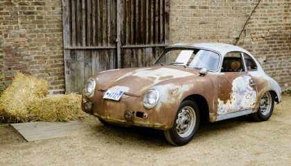 An old Porsche ready for a classic car restoration