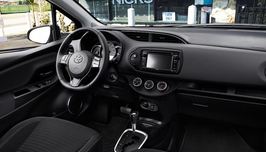 The inside of a 2017 Toyota Yaris