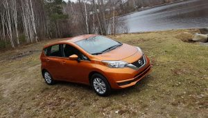 The Nissan Versa Note hatchback