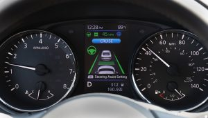The Nissan ProPilot Assist interface