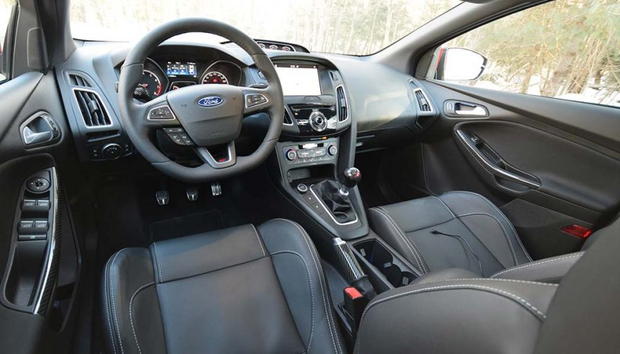 The interior of a Ford Focus ST