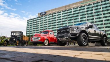 Three trucks show how Ford trucks have changed through the years