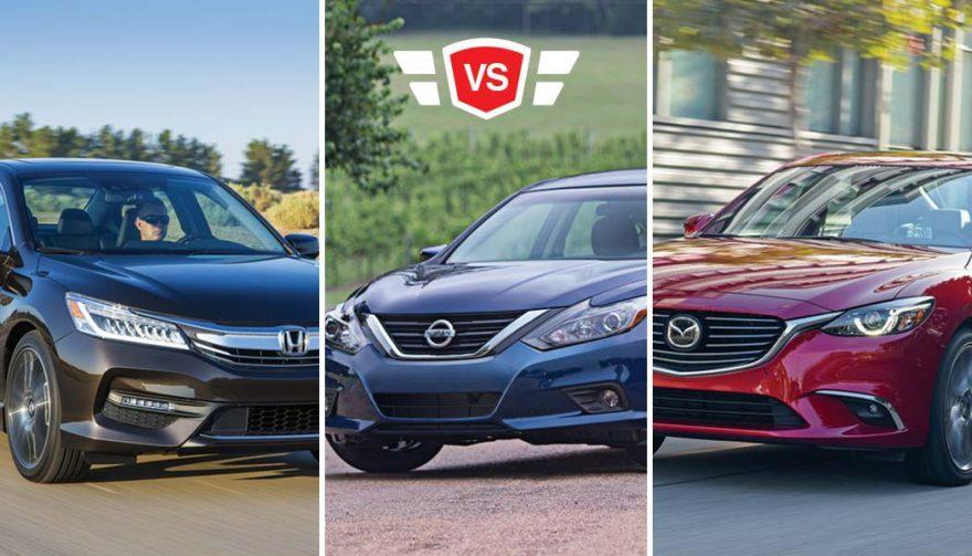 Honda Accord vs Nissan Altima vs Mazda6