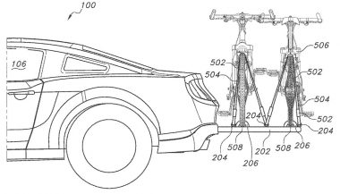An integrated bike rack appears in a Ford patent application
