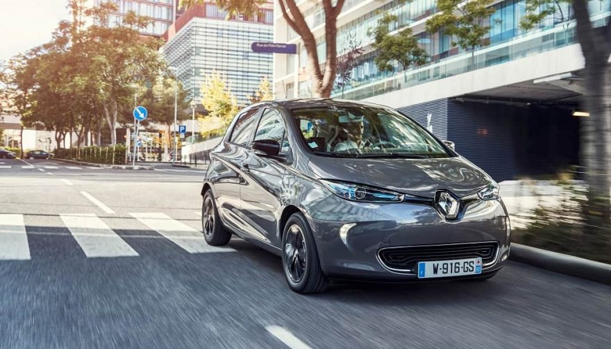The all-electric Renault Zoe is manufactured in France
