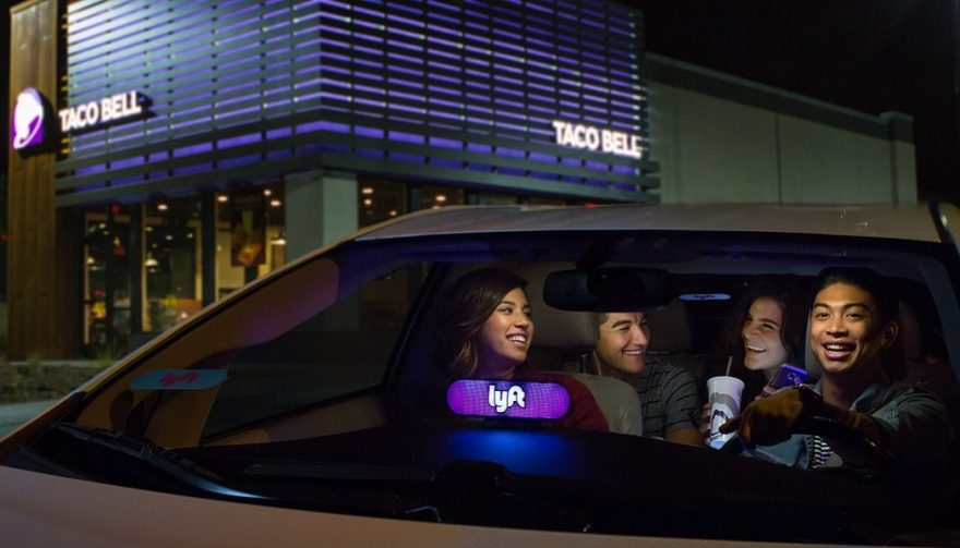 Lyft passengers going to Taco Bell