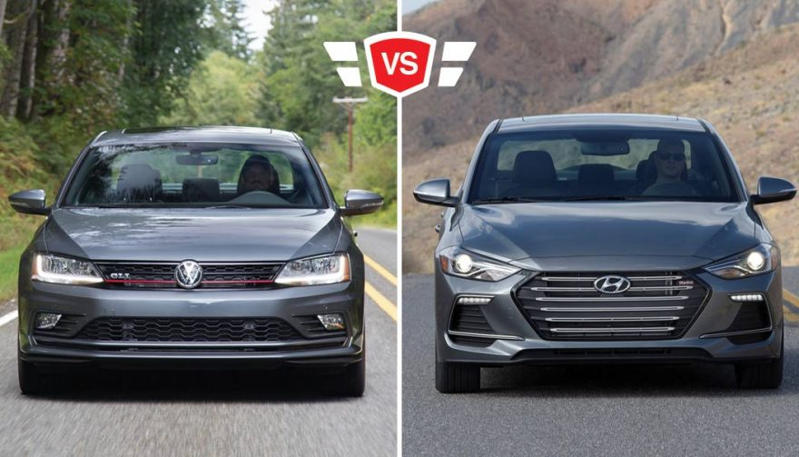 Compact Sport Sedan Showdown Volkswagen Gli Vs Elantra