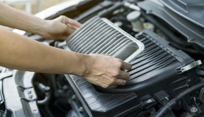 Changing the air filter is an easy DIY car maintenance