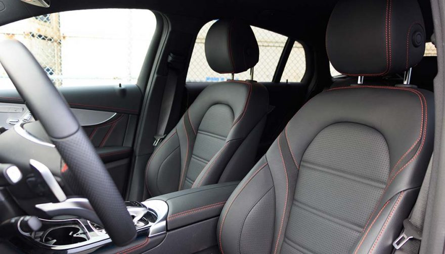 The interior of the AMG GLC 43 Coupe