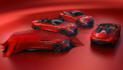 The four cars of the Aston Martin Vanquish Zagato family