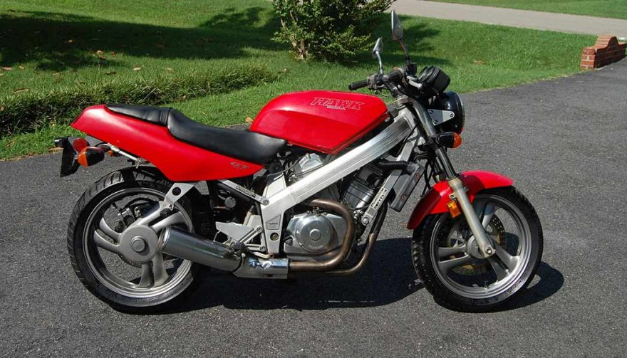 The 1991 Honda Hawk GT is one of the best used motorcycles