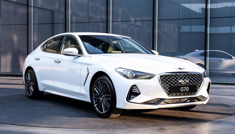 The exterior of the all new Genesis G70
