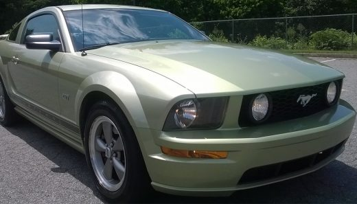 front 3/4 of a ford mustang