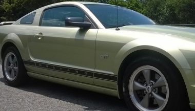 side view of ford mustang
