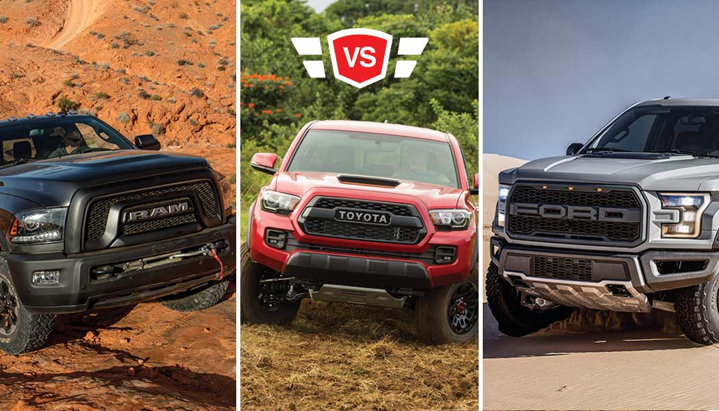 best off road truck ford raptor vs tacoma trd vs ram. Black Bedroom Furniture Sets. Home Design Ideas