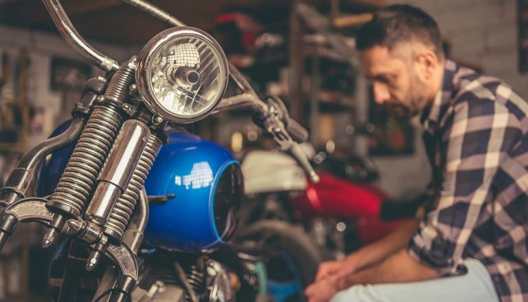 A man learns how to build a motorcycle