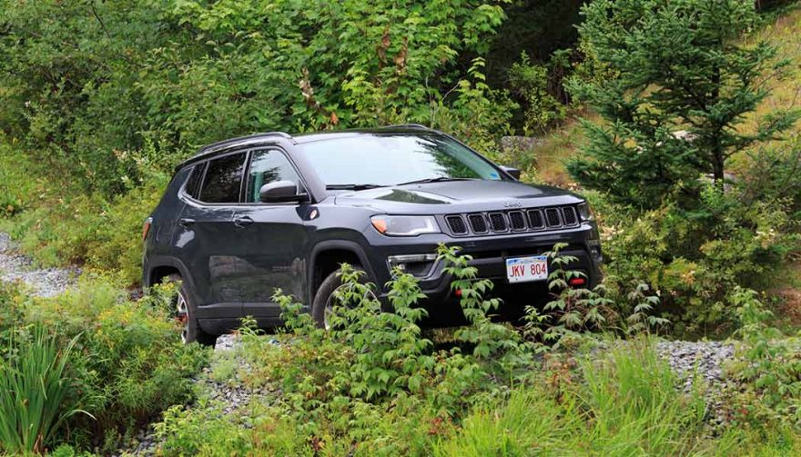 The 2017 Jeep Compass goes off road