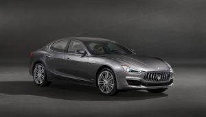 The 2018 Maserati Ghibli mid-size luxury sedan