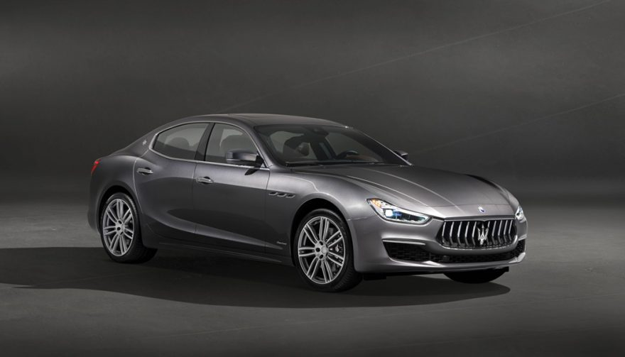 The 2018 Maserati Ghibli mid-size luxury sedan