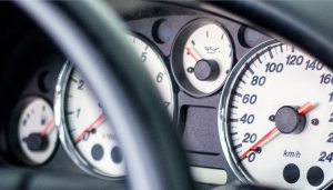 An oil pressure gauge fluctuates while driving