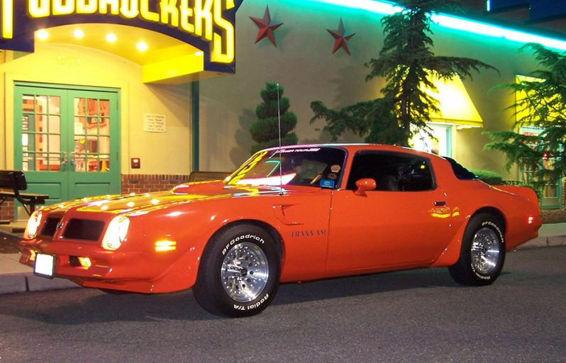 Orange pontiac trans am
