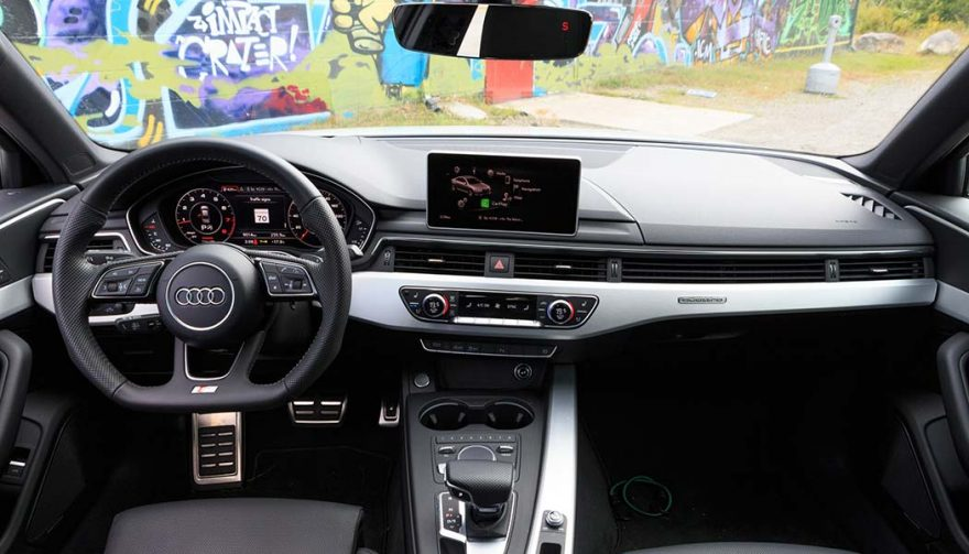 The Interior of the 2017 Audi A4