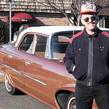 Ben Deutschman in front of Plymouth Savoy
